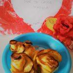 Rose dolci di pasta sfoglia
