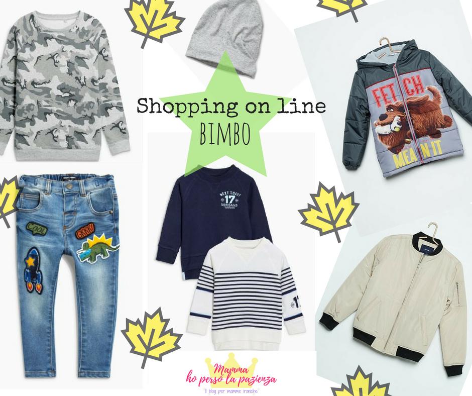 Shopping on line bimbo