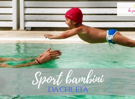 Sport bambini – Da che età proporlo