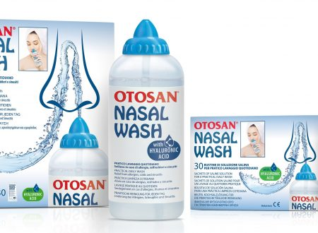 La pulizia del naso con Otosan Nasal Wash