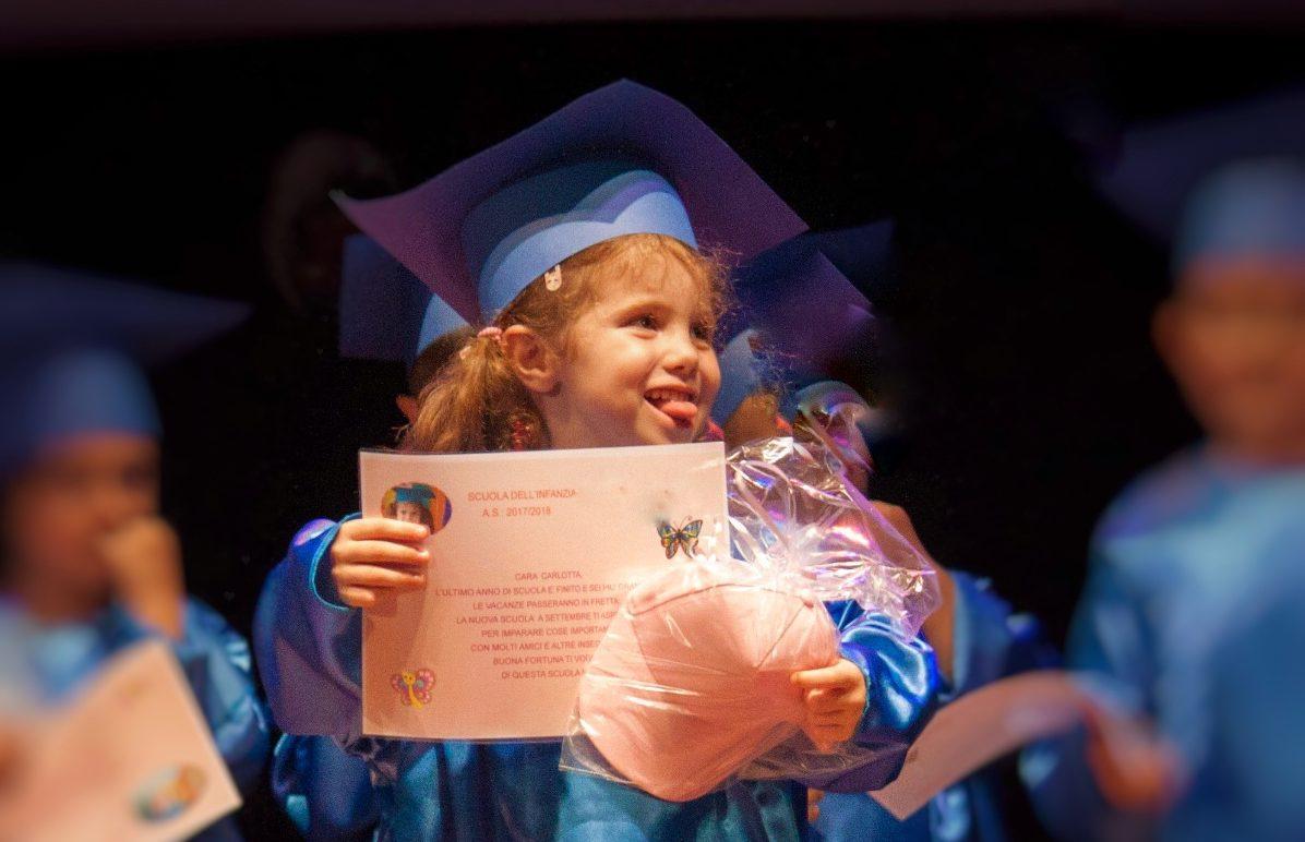 Il tuo primo diploma. Fine della scuola materna