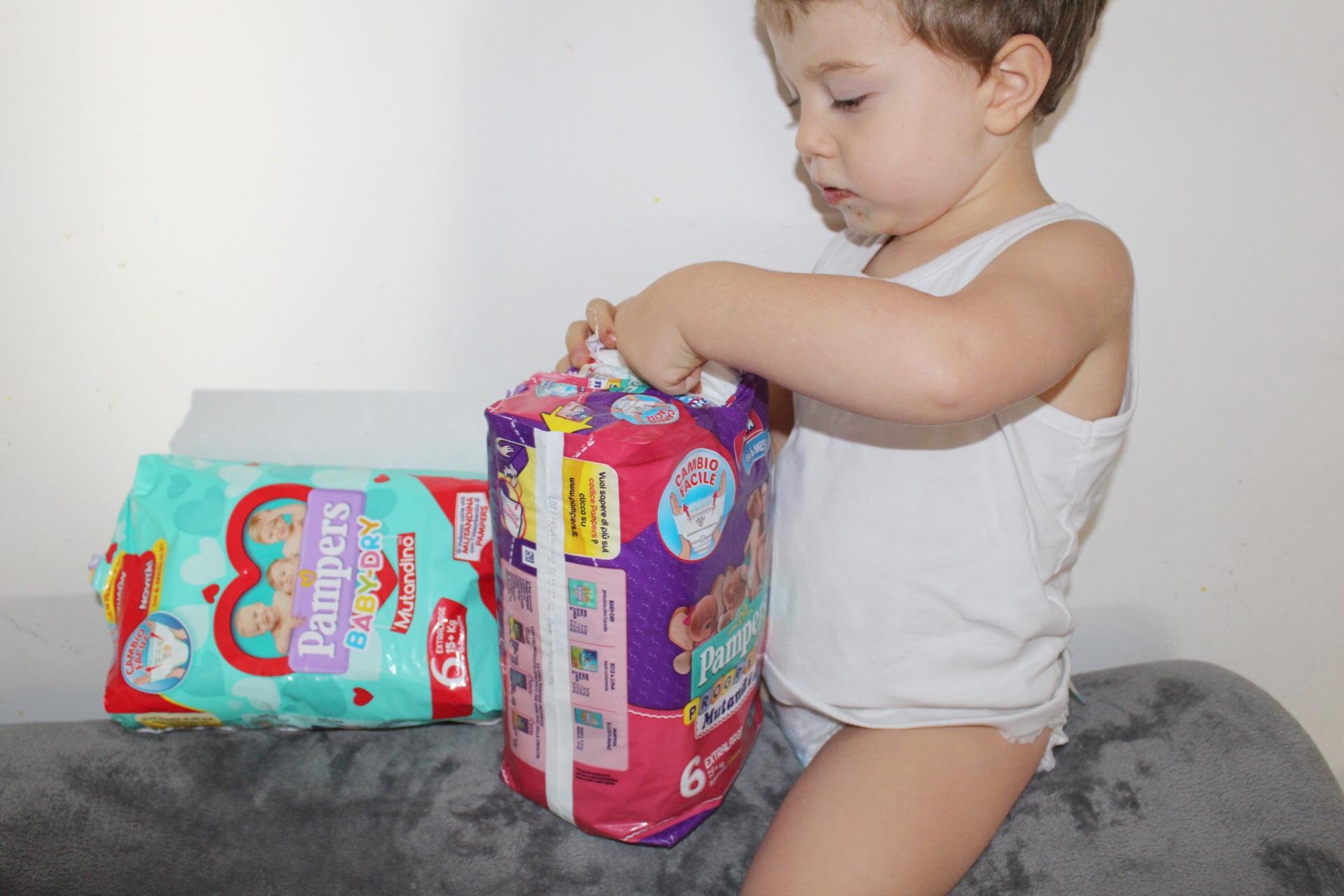 Il pannolino a mutandina si può usare già dai 6 mesi