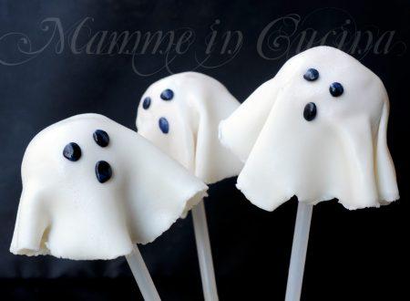 Cake pops fantasmini biscotti ricetta halloween per bambini