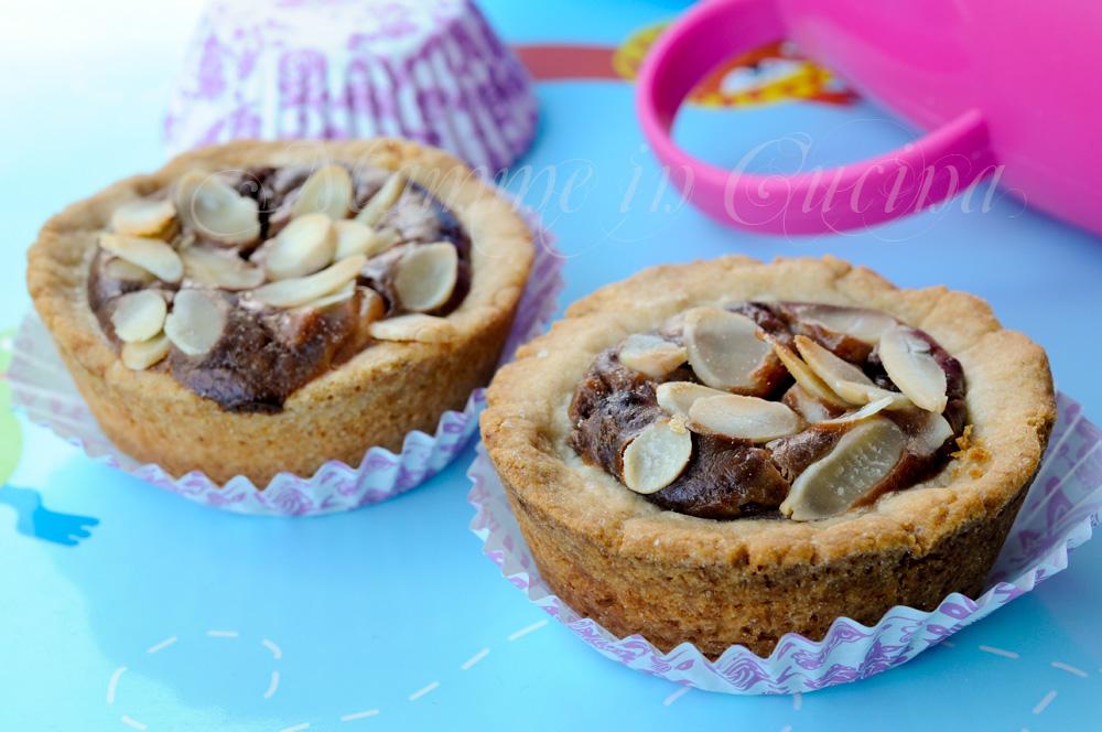 Crostatine con crema al cioccolato e ricotta mamme in cucina