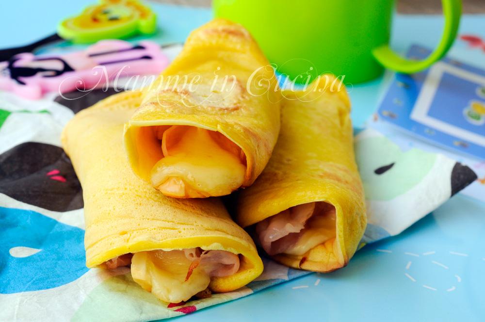 Preferenza Pancake salati arrotolati farciti ricetta per bambini veloce FR67