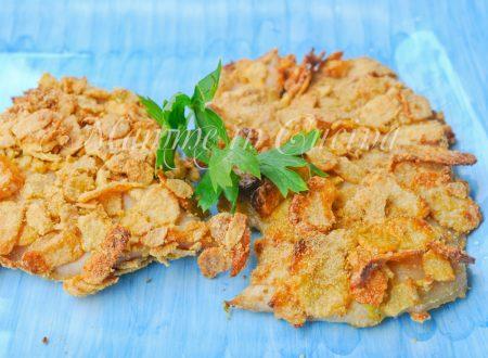 Cotolette di pollo con corn flakes al forno
