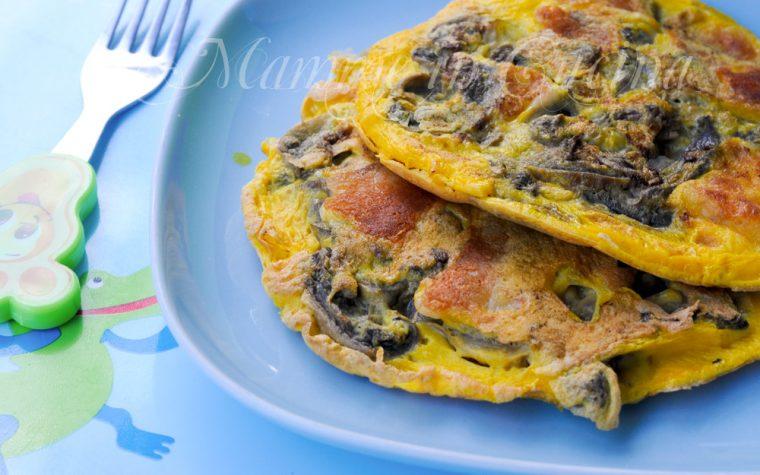 Frittatine con funghi e formaggio ricetta per bambini