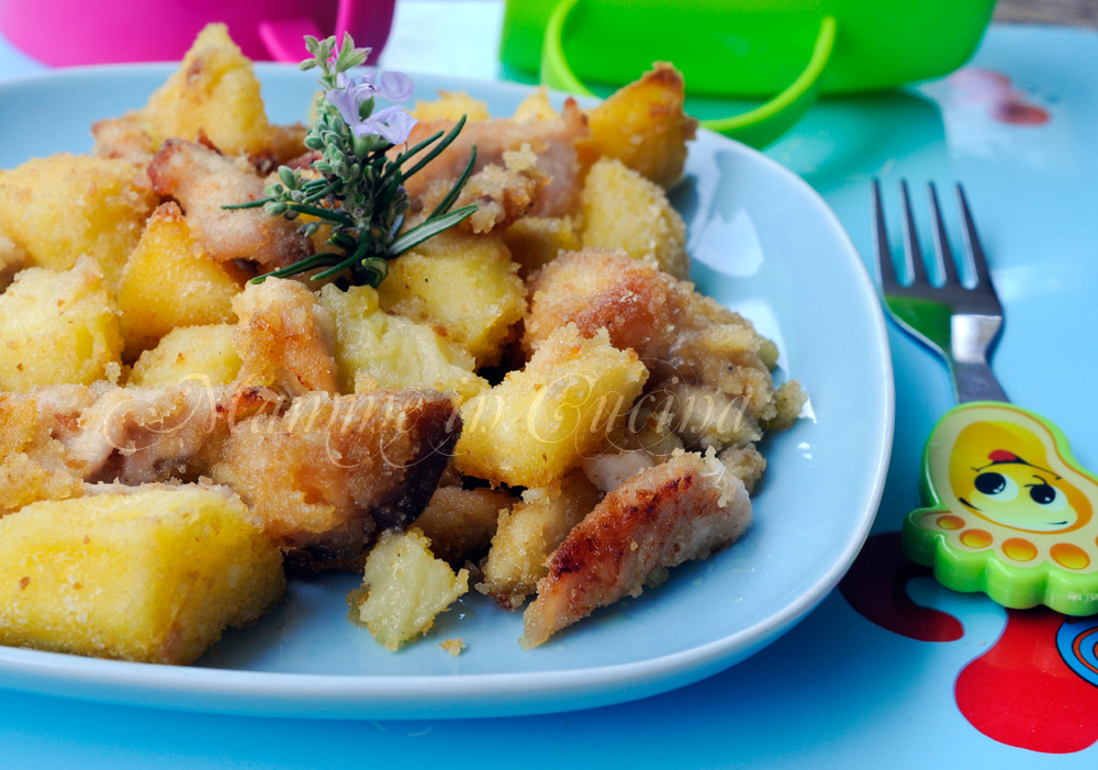 Straccetti di pollo con patate sabbiose al forno mamme in cucina