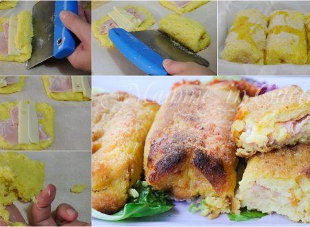 Polpettoni di patate ripieni ricetta sfiziosa