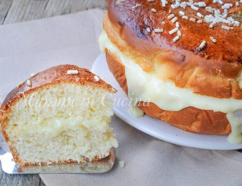 Torta brioche farcita alla crema pasticcera