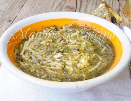 Brodo vegetale con formaggino ricetta facile