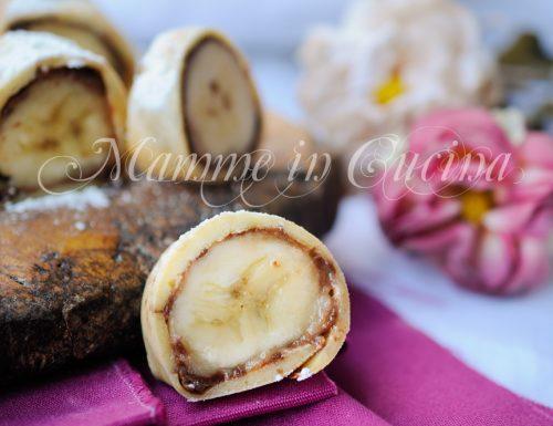 Girelle di crepes con banana e nutella veloci