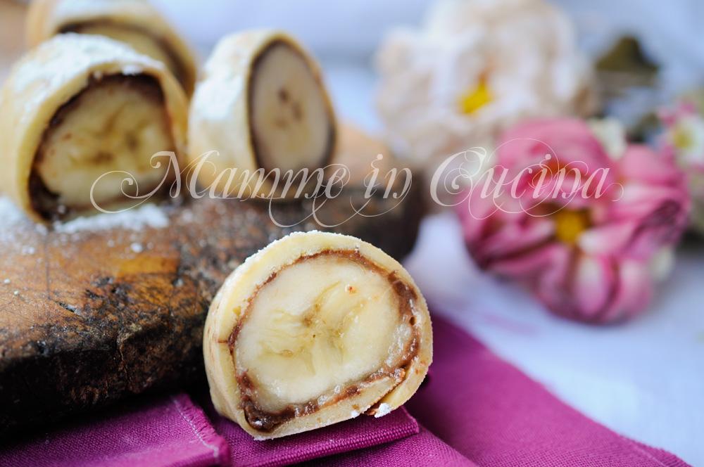 Girelle di crepes con banana e nutella veloci mamme in cucina