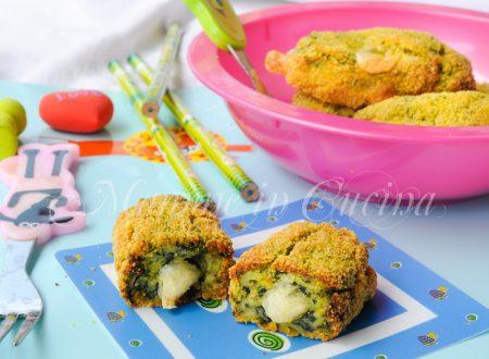 Crocchette di spinaci e patate filanti al forno