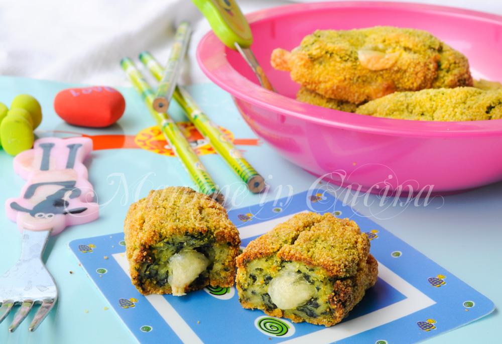 Crocchette di spinaci e patate filanti al forno mamme in cucina