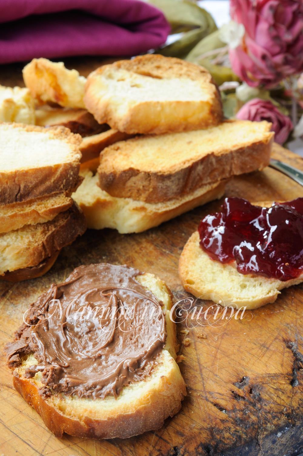 Fette biscottate dolci ricetta merenda o colazione mamme in cucina