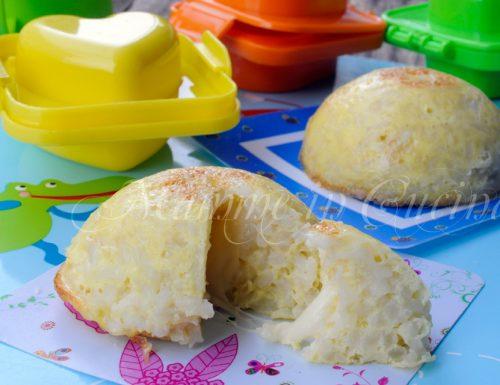 Cupolette di riso e formaggio al forno