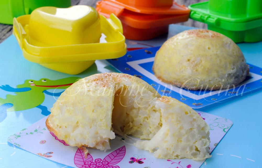 Cupolette di riso e formaggio al forno mamme in cucina