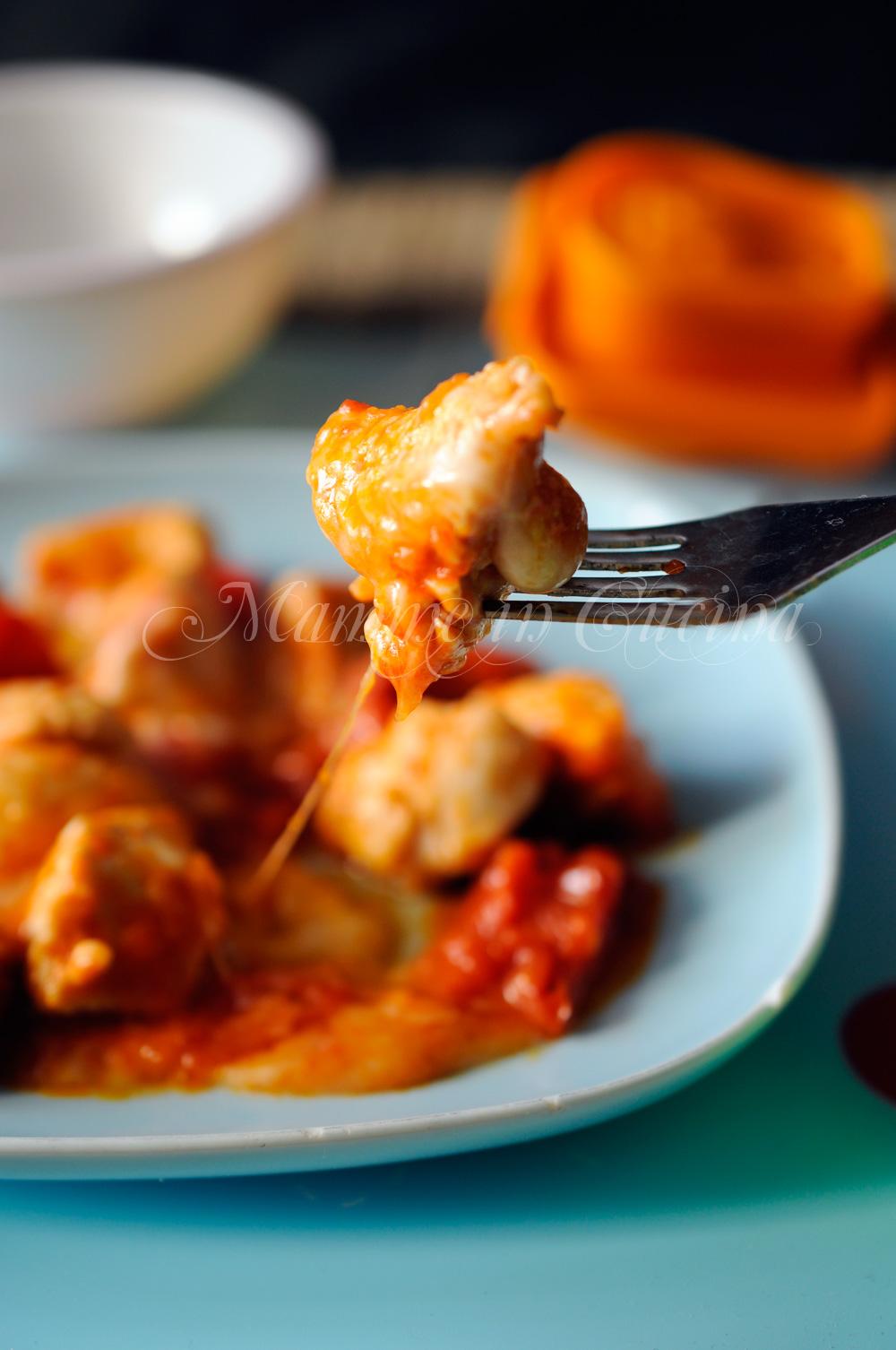 Bocconcini di tacchino pomodoro e formaggio mamme in cucina