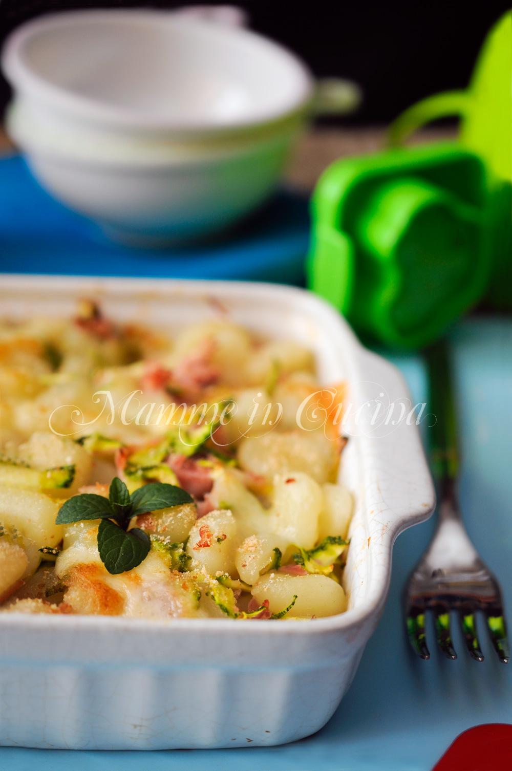 Gnocchi prosciutto e zucchine al forno ricetta veloce mamme in cucina