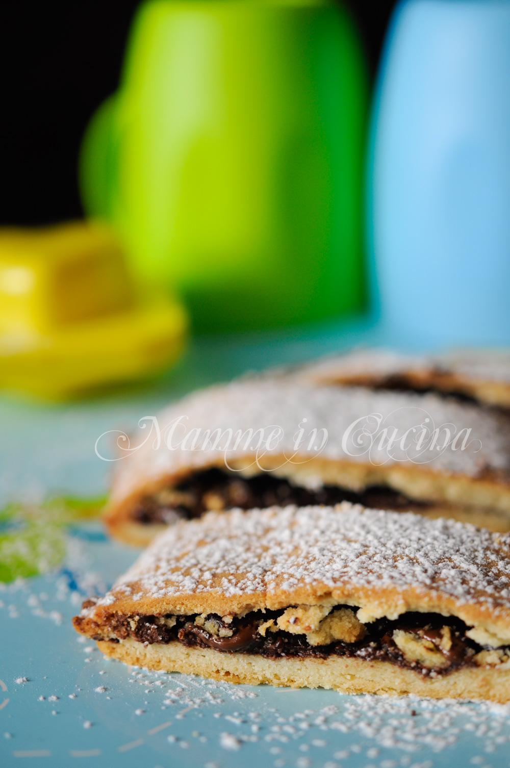 Torta di frolla ripiena al cioccolato veloce mamme in cucina