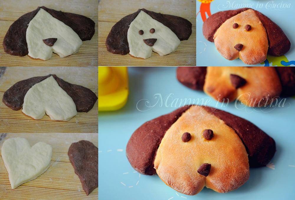 Brioche per bambini a forma di cagnolino mamme in cucina