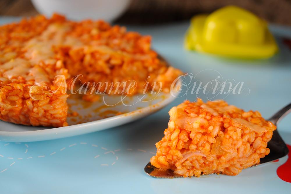 Pizza di riso ripiena ricetta primo facile mamme in cucina