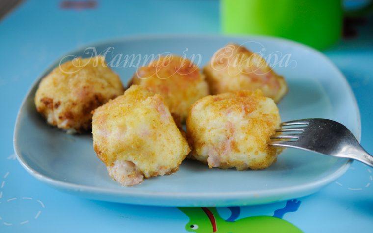 Polpette con patate prosciutto e robiola