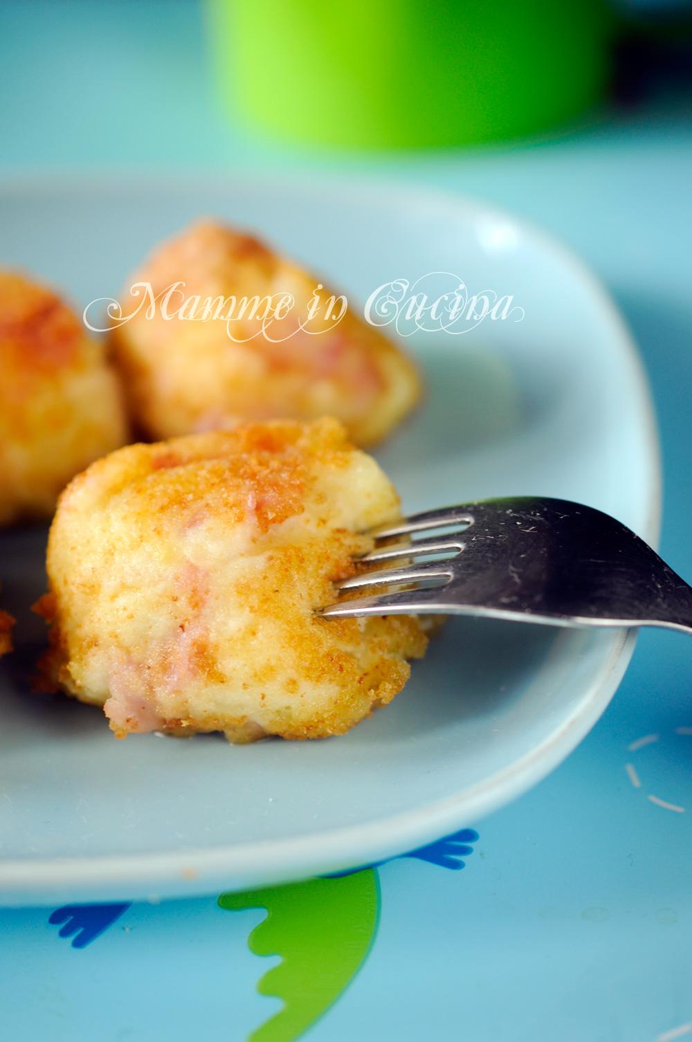 Polpette con patate prosciutto e robiola mamme in cucina