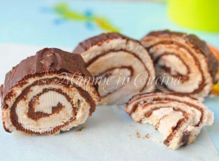 Girelle di pancarre ricotta e cioccolato