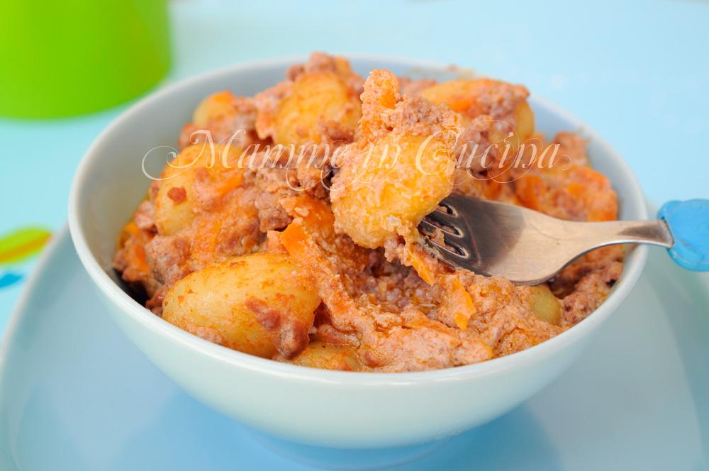 Gnocchi con carote ricotta e carne ricetta veloce mamme in cucina