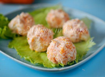 Polpette fredde di ricotta prosciutto e carote