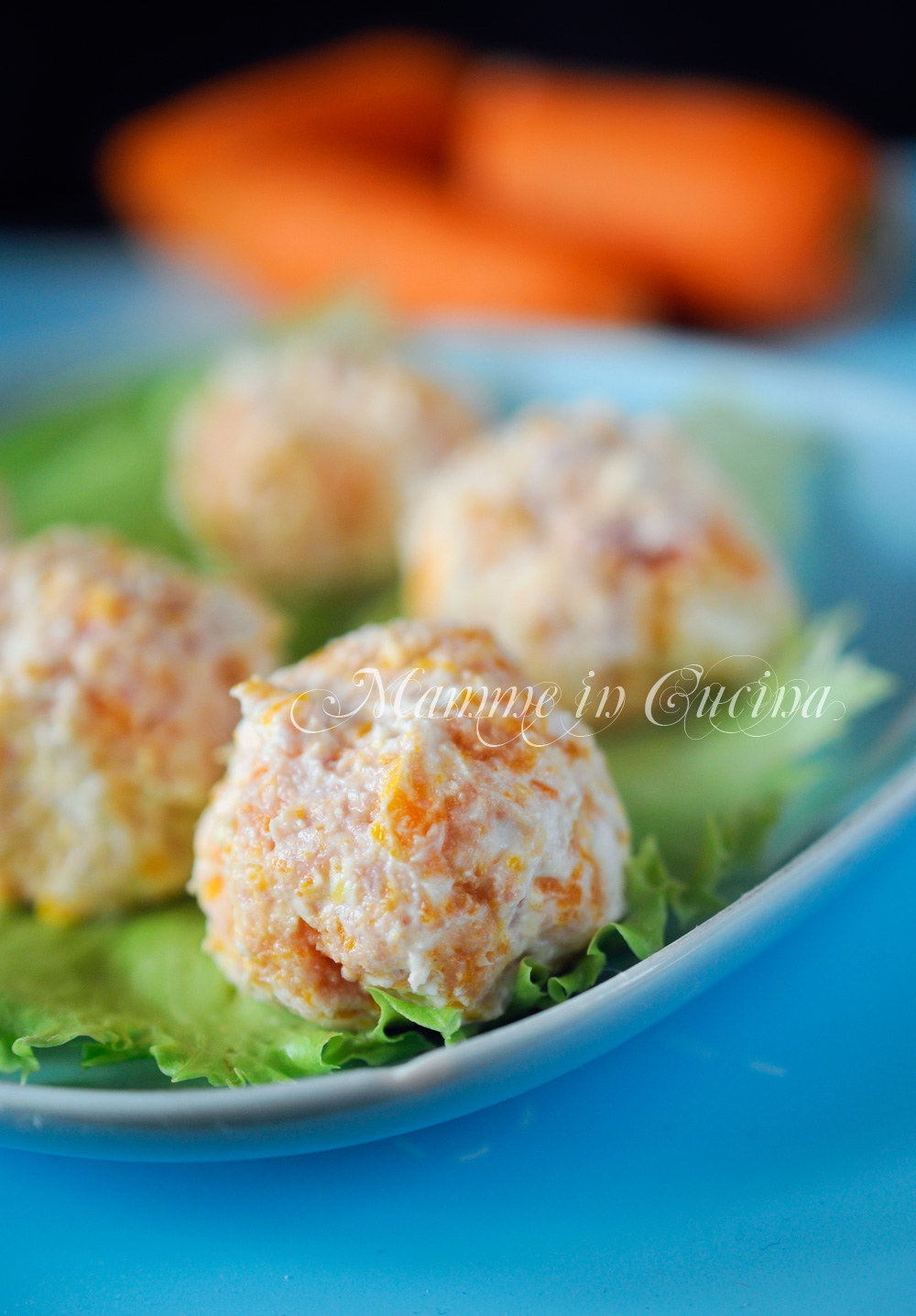 Polpette fredde di ricotta prosciutto e carote mamme in cucina