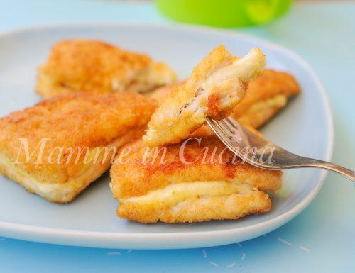 Cotolette di pollo ripiene al formaggio ricetta facile veloce