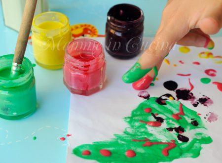 Tempera o colori a dita fatti in casa veloce