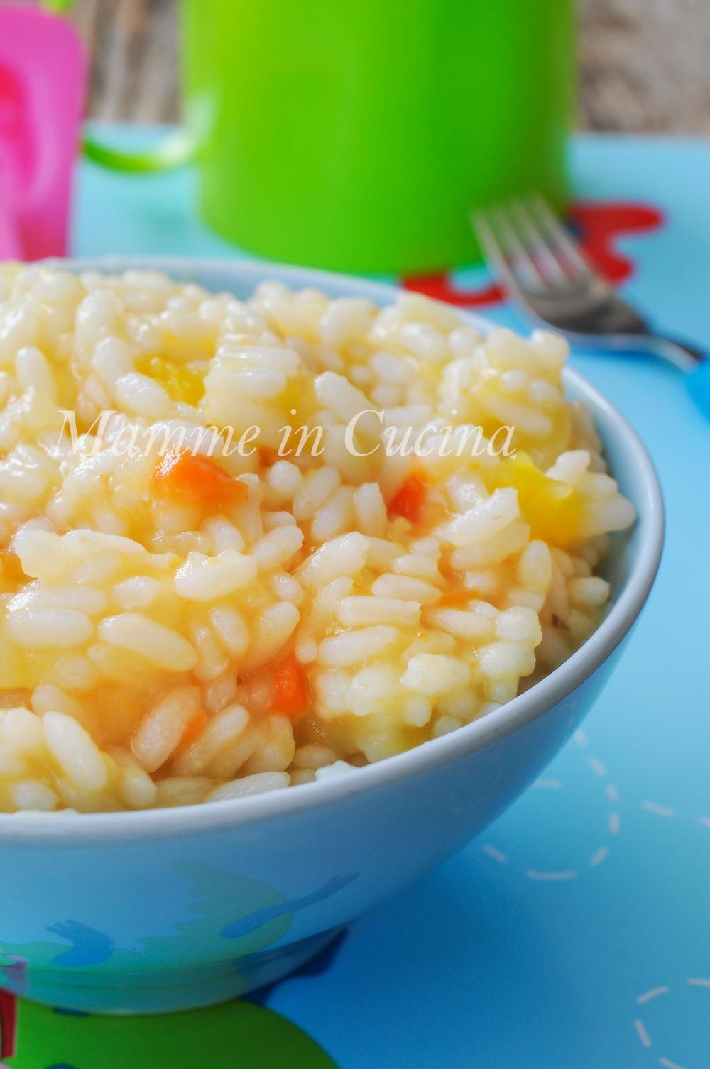 Riso con patate zucca e carote cremoso ricetta facile vickyart arte in cucina