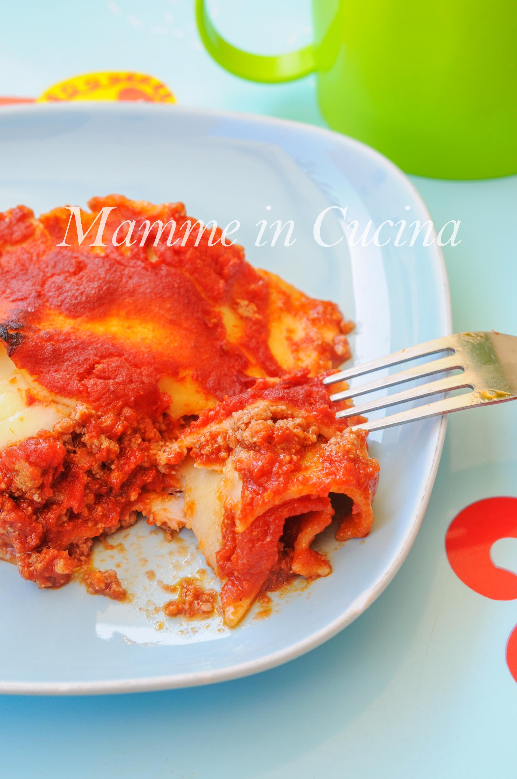 Lasagna leggera al forno ricetta per bambini veloce mamme in cucina