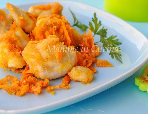 Bocconcini di pollo e carote croccanti in padella