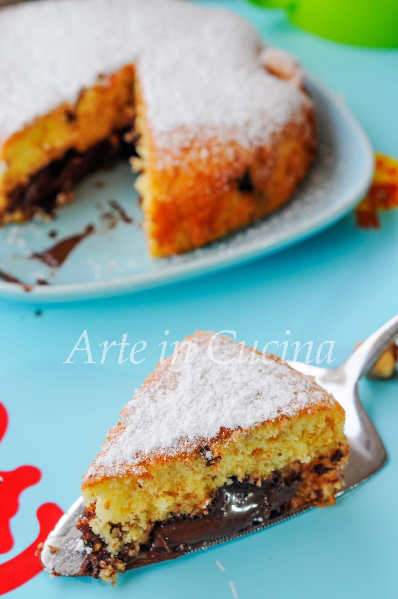 Torta morbidissima alle nocciole e nutella vickyart arte in cucina