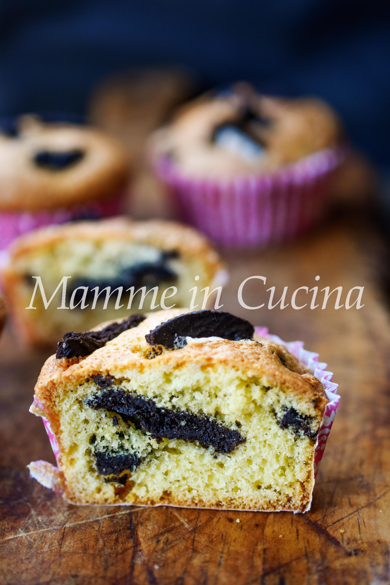Muffin con oreo dolcetti veloci mamme in cucina