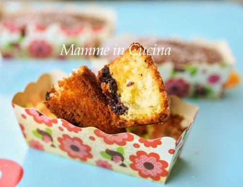 Mini plumcake ripieni al cioccolato