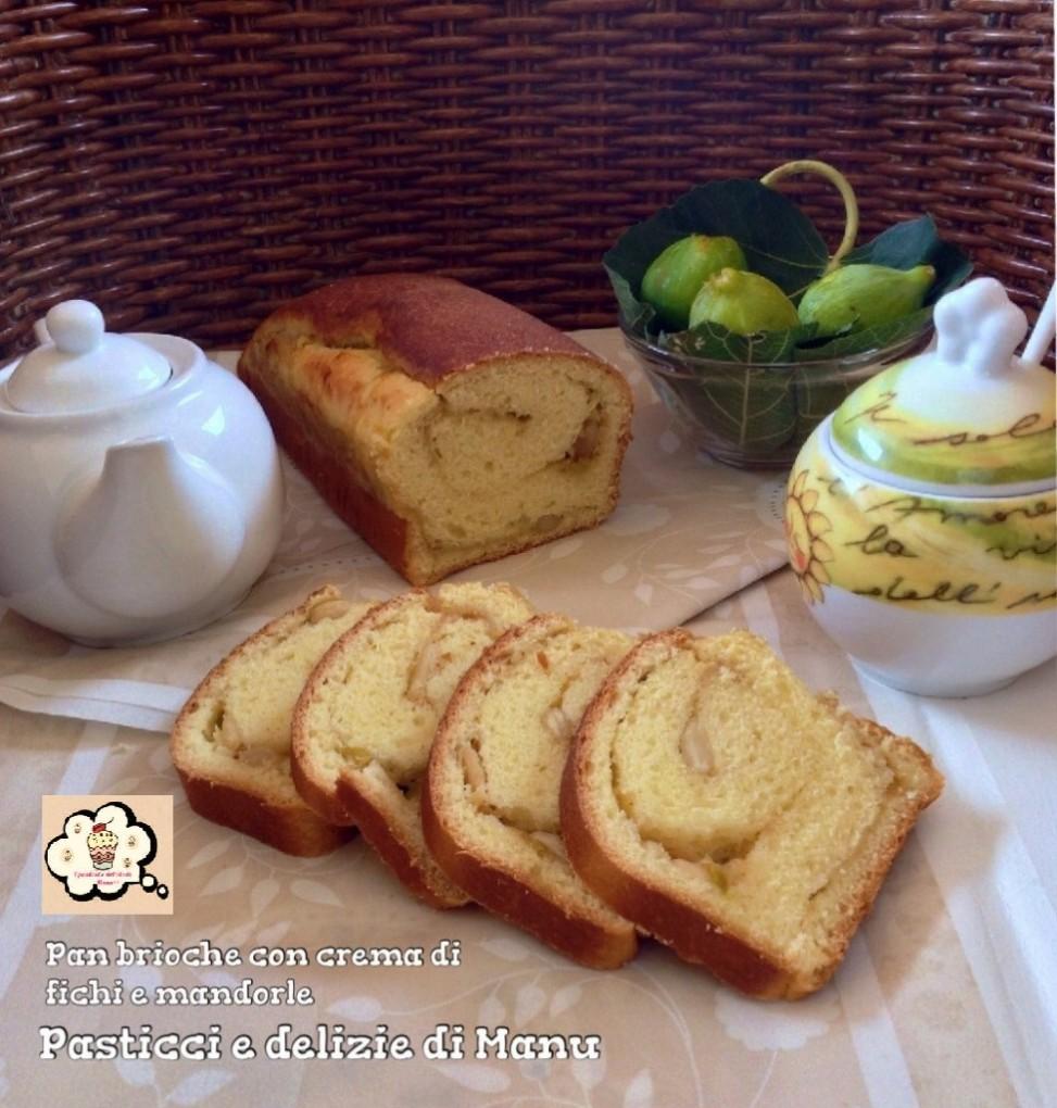 Pan brioche con crema di fichi e mandorle