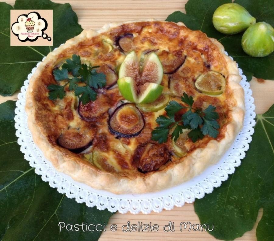 Torta rustica con fichi e gorgonzola