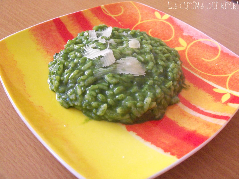 Risotto cremoso con ricotta e spinaci la cucina dei bimbi for Ricette bambini