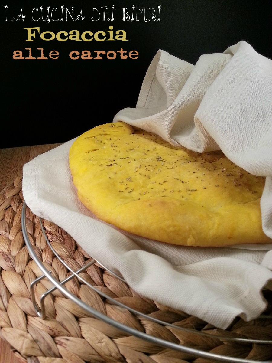 FOCACCIA ALLE CAROTE - LA CUCINA DEI BIMBI - BABY FOOD Blog Ricette per Bambini - Copyright © All Rights Reserved