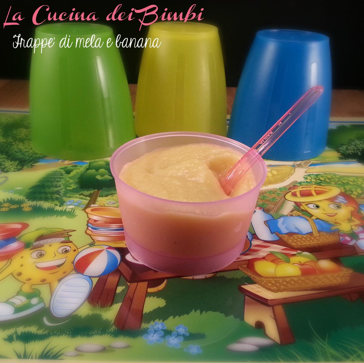 Frappé di mela e banana con biscotti - LA CUCINA DEI BIMBI - BABY FOOD Blog Ricette per Bambini - Copyright © All Rights Reserved