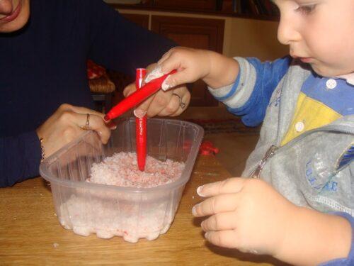 decorare con il sale grosso