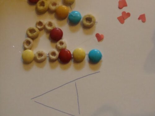 cereali e cioccolatini per fare pregrafismi!!!
