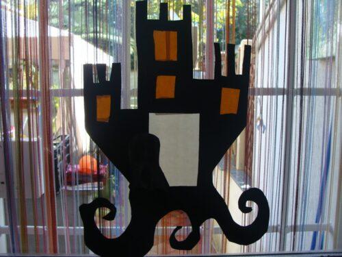 Come fare la vetrofania di halloween con i bambini
