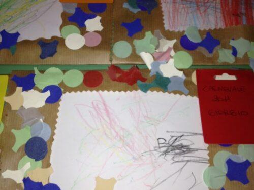 Attività di carnevale con bambini piccoli: Come creare cornici con coriandoli